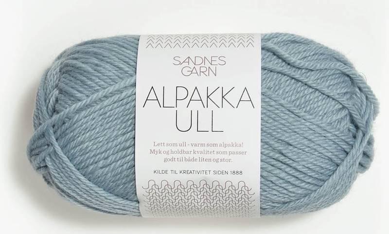 Alpakka Ull 6531 Isblå