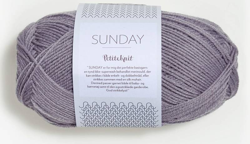Sunday 4631 Petite Knit Støvet Lilla