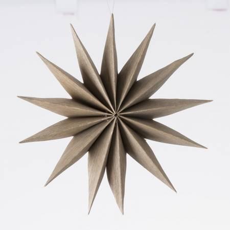 Stjerne lysbrun ø:25,5cm