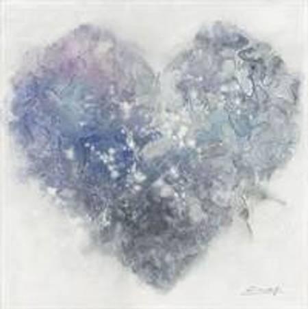 Hjerte m sommerfugler blålilla