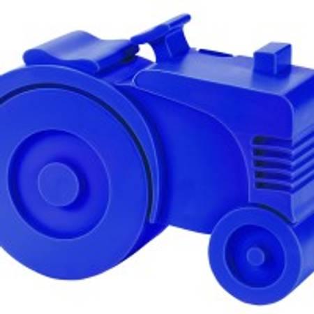 Traktor matboks blå