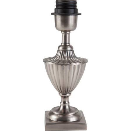 Pollino lampefot antik sølv