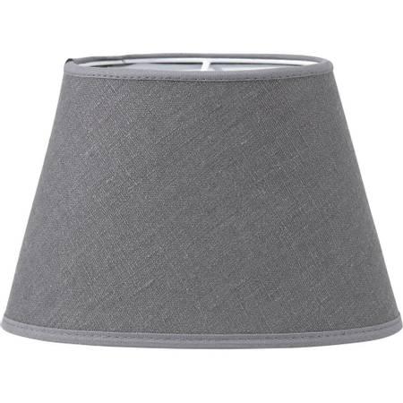Lampeskjerm oval lin grå 20 cm