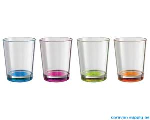 Bilde av Glass Brunner Multiglass m/farget bunn 30cl 4stk