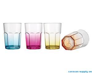 Bilde av Glass Brunner Octoglass Color 28cl 4stk