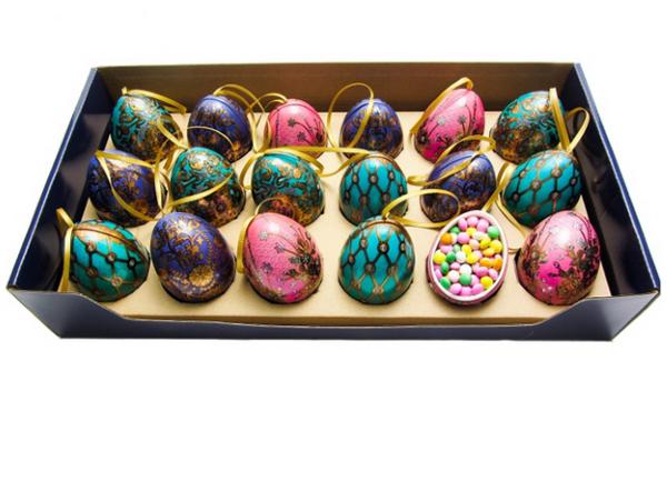 Mini Egg m/ Sjokoladelinser 40g Grønt med ruter