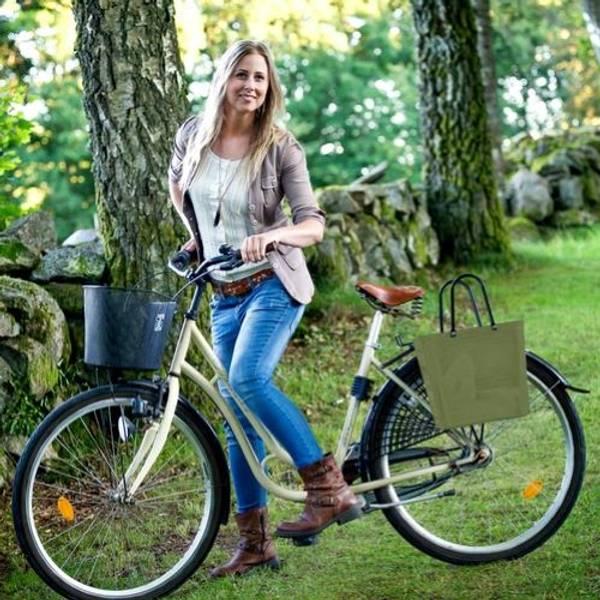 Cykelkorg Perstorp Naturgrön, för pakethållaren 55318