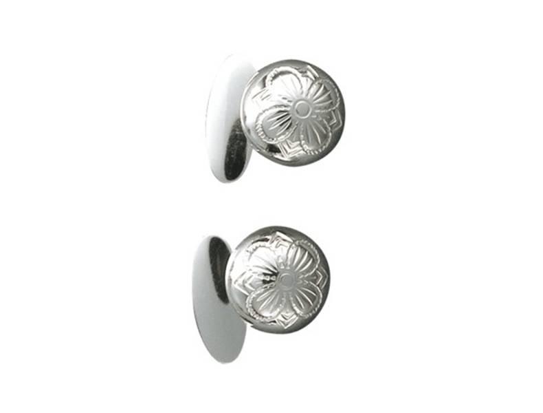 Mansj.knapper, hvit