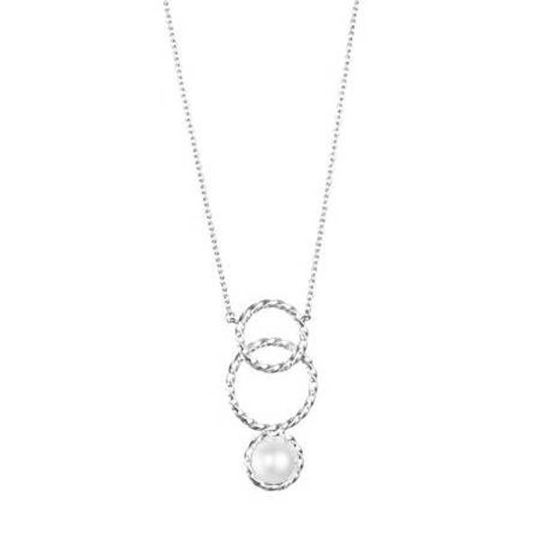 Twisted Orbit Necklace - Pearl