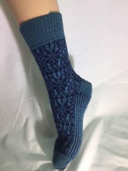 Hirsch Ullsokker modell STJERNE jeans-blå 36/37