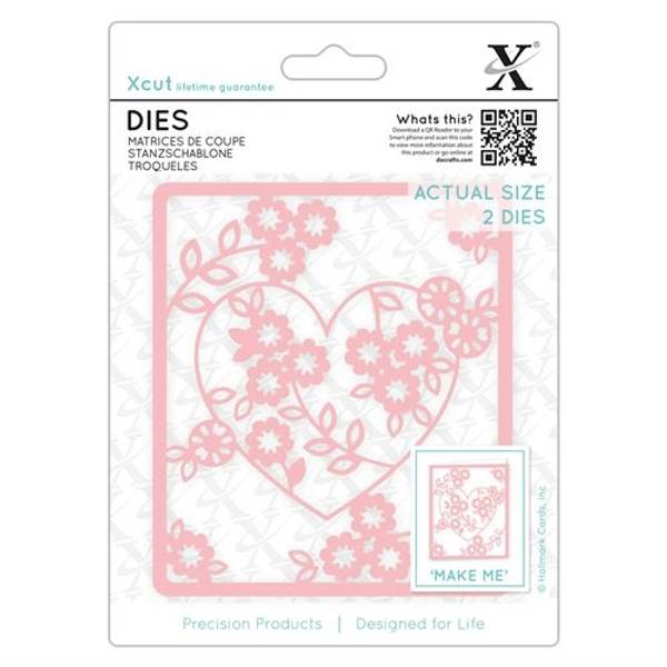 Dies 2pcs - Floral Heart