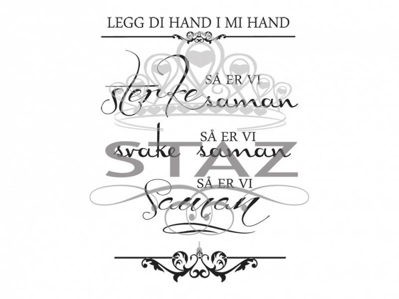 Staz Stempelsett - Legg di Hand i mi Hand