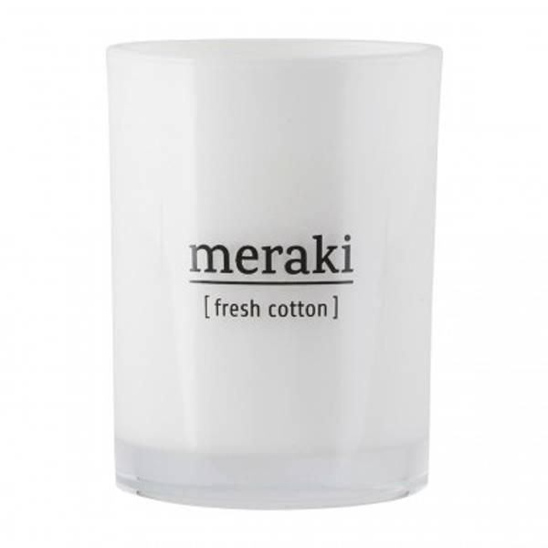 Meraki fresh cotton, duftlys STORT