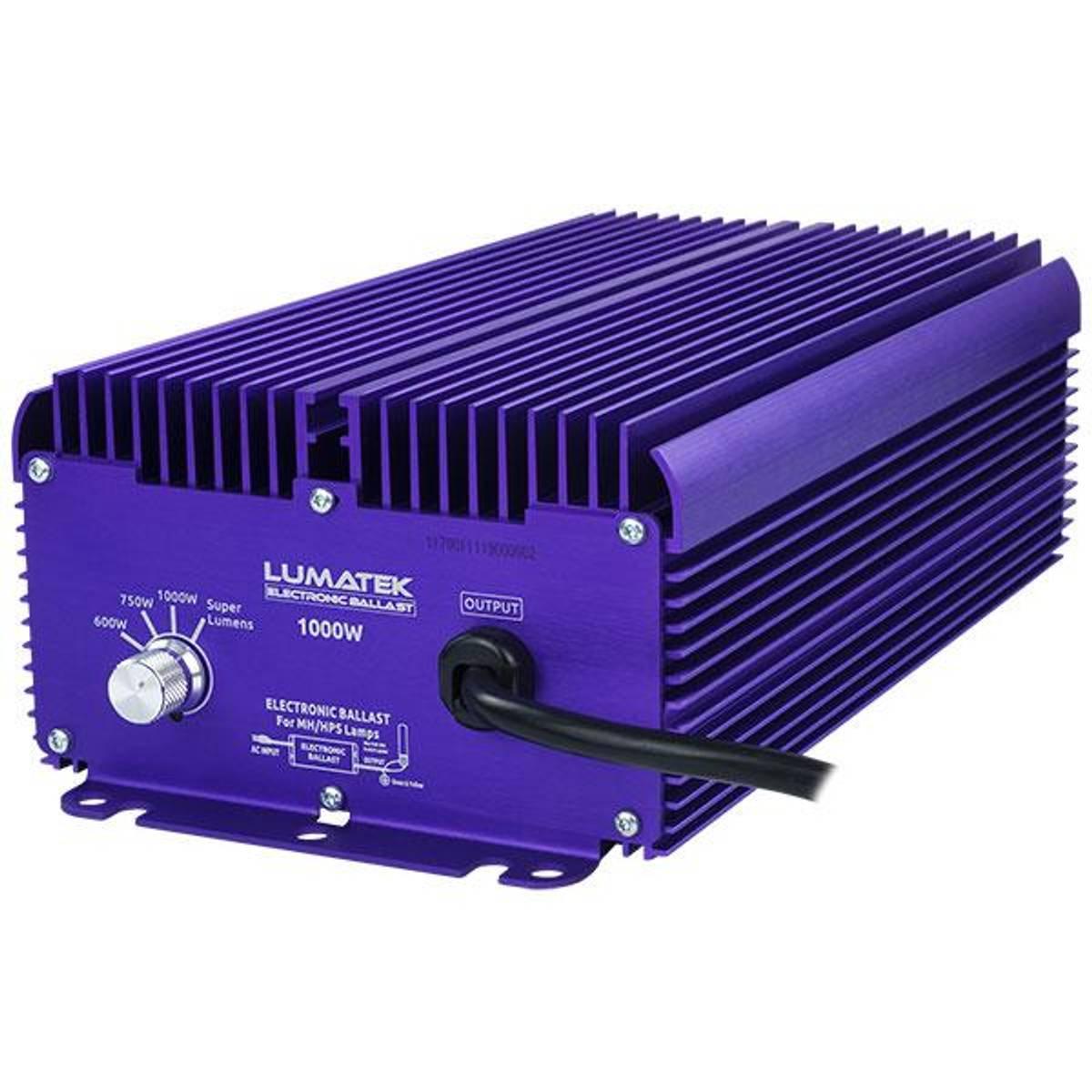 1000 W HID Ballast til HPS og MH, Lumatek