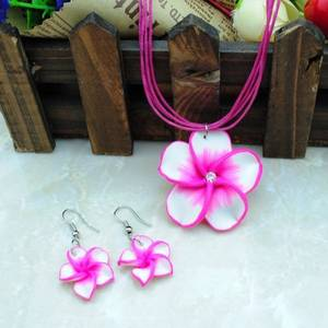 Sett - Blomstersmykke med øredobber