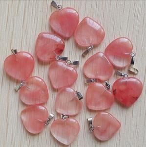 Halssmykke med hjertesten - rød