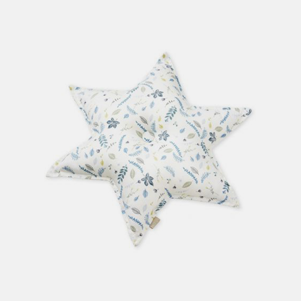 Pute Stjerne Pressed Leaves Blue