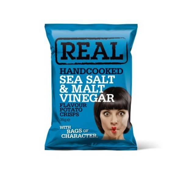Real Crisps Salt & Vinegar 35 g