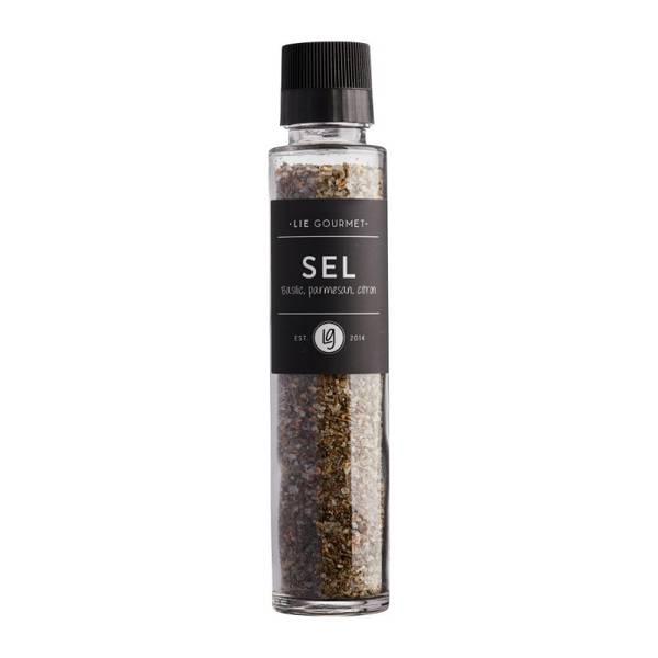 Lie gourmet salt med basilikum, parmesan og sitron 320 g